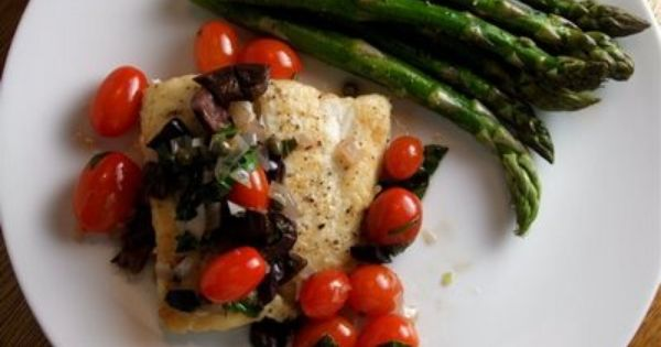 Recipe - Halibut With Capers, Olives, And Tomatoes | Sea Food ...