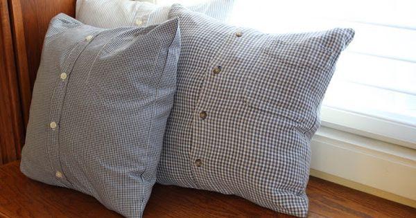 Memory Pillows Using Dad S Shirts My Sewing Pinterest