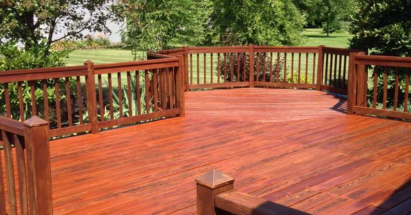 Deck Stained With Cabot Australian Timber Oil In The