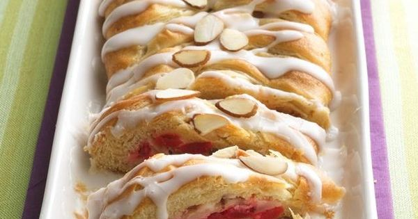 Cherry Cream Cheese Coffee Cake ... made with Pillsbury Crescent Rolls for-the-love-of-baking