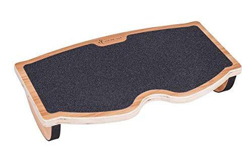 Office and PC Use StrongTek Foot Rest Rocker Under Desk 350LB Capacity Natural Wood Home Rocking Step Stool Balance Board Ergonomic Pressure Relief for Proper Posture Support Non-Slip