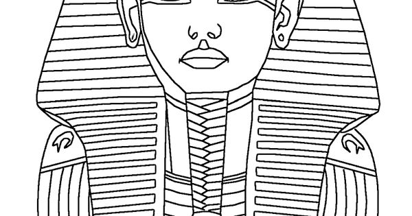 King tut tattoo coloring pages for King tut mask template