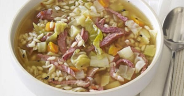 Cornbeef and cabbage soup