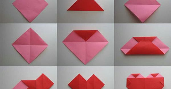 origami heart from a square teabag folding pinterest