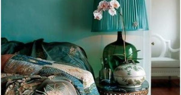 Pin van kerry bechtel op for the home pinterest thuis en kleur - Blauwe turquoise decoratie ...