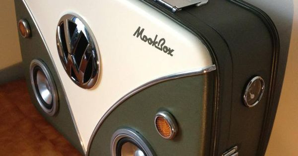 vdub mookbox vw camper inspired suitcase boombox volkswagen pinterest suitcase