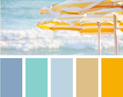 Beach Theme color scheme