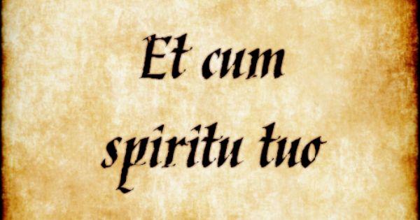 tuo Et cum spiritu