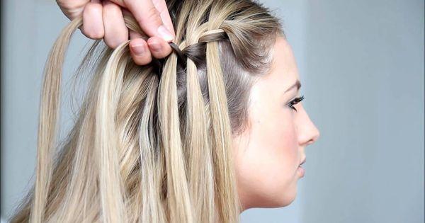 Waterfall braid   Hair   Pinterest   Hair style