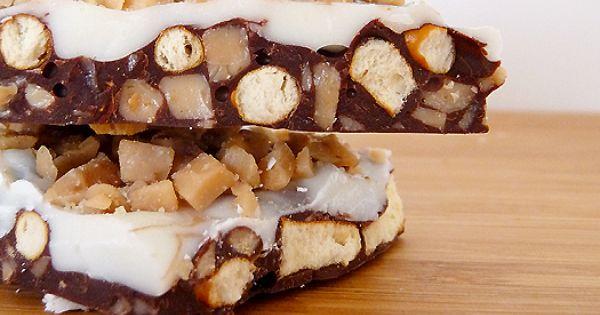 Toffee Pretzel Bark | Toffee, Pretzels and White Chocolate