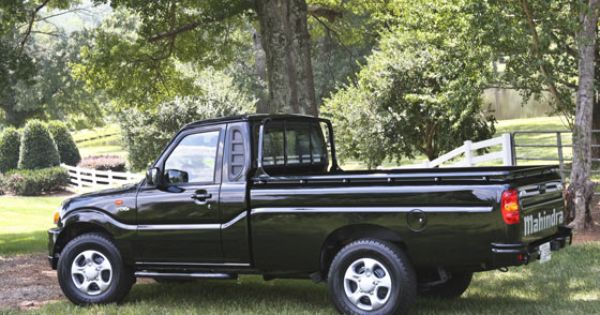 small diesel trucks vw and ugly as a mud fence mahindra clean diesel pickup trucks and suvs. Black Bedroom Furniture Sets. Home Design Ideas