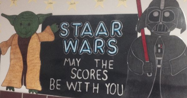 staar wars characters support the students taking the. Black Bedroom Furniture Sets. Home Design Ideas