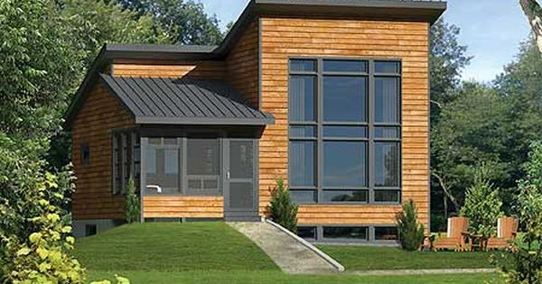 Plan 80815pm One Bedroom Contemporary Getaway Modern House Plans Cottage Plan Modern House Plan