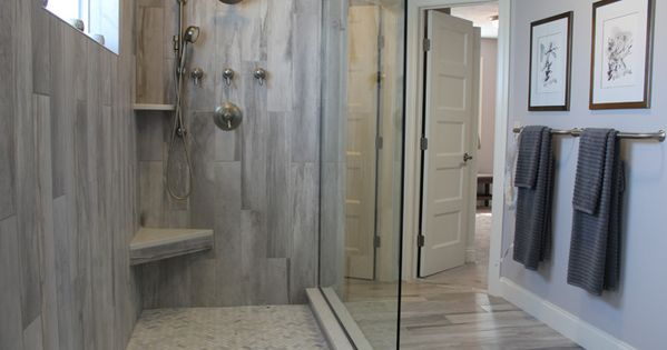 wood tile shower update small bathroom