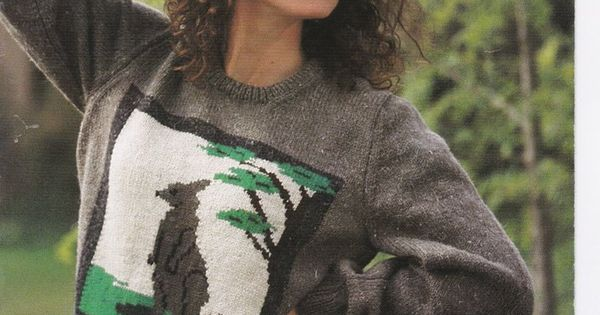 Knitting Patterns Sweater Australiana Kangaroo Koala Possum Platypus Booklet ...
