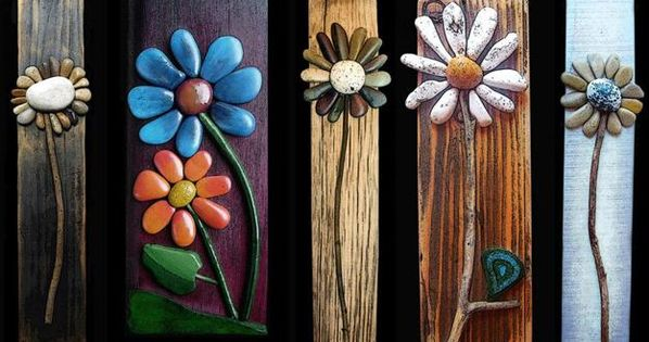 Create some beautiful yard art... Use a thin piece of wood and