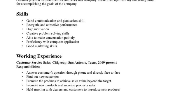 Resume Objective Statement For Customer Service work Pinterest - resume value statement