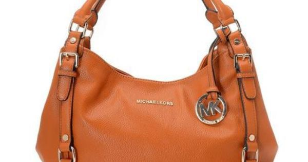 You Can Go Everywhere With Michael Kors Bedford Large Orange Shoulder Bags