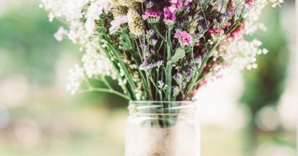 Ramo de flores silvestres con trigo, limonium, paniculata...