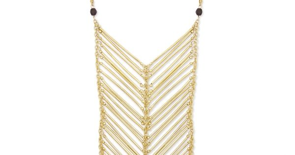 Z Designs Metal Bar Bib Necklace