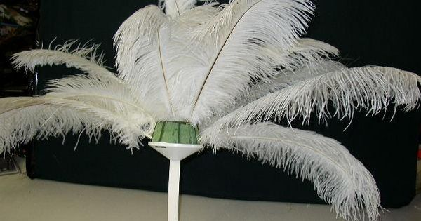 feather decorations for weddings | Assembling Ostrich Feather Centerpieces-Please print from this