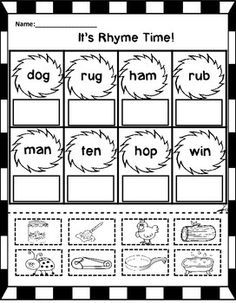 Dr Seuss Pre K Worksheets Phonics