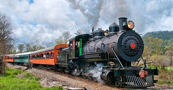 Mount Rainier Scenic Railroad!!! The longest continuously operating steam train railroad in