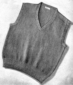 Mens Knit  V-Neck Sweater Pdf Pullover Vest StyleOhhhMama  sleeveless tunic jumper vintage pattern instant download pdf