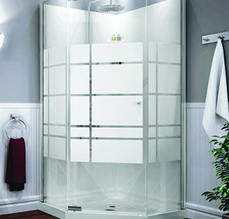 The Maax Begonia Corner Shower Kit Includes A Base Wall And Pivot Door It Features Clear Gla Corner Shower Kits Glass Corner Shower Corner Tub Shower Combo