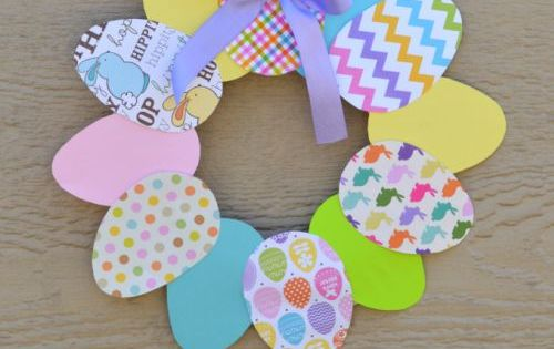 This paper easter wreath is a great easter craft for kids for Easter craft ideas for young adults
