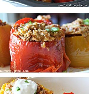 Crockpot Stuffed Peppers Recipe Food Recipes Stuffed Peppers Cooking Recipes