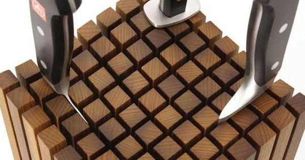 stay sharp 12 knife storage options to buy or diy messerblock holzkunst und diy m bel. Black Bedroom Furniture Sets. Home Design Ideas
