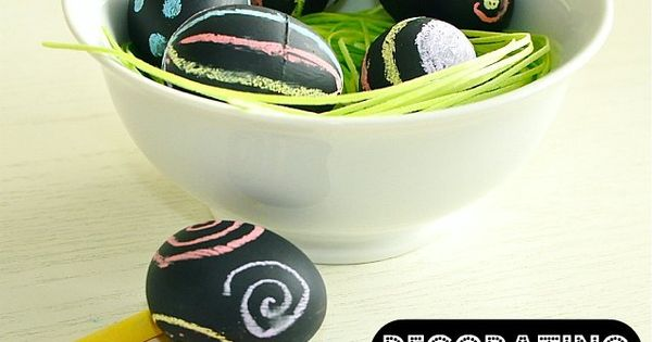 Chalk board paint Easter Eggs