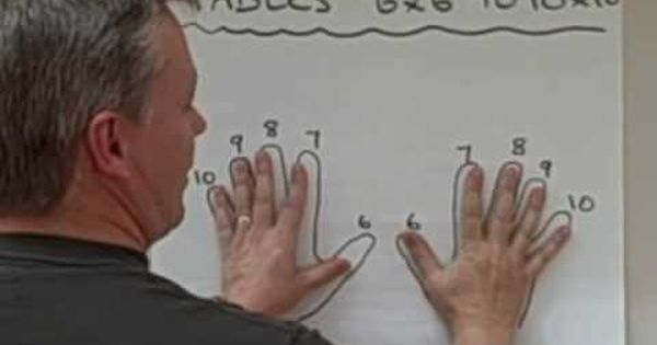 Multiplication Finger Tricks . . . crazy how it works!