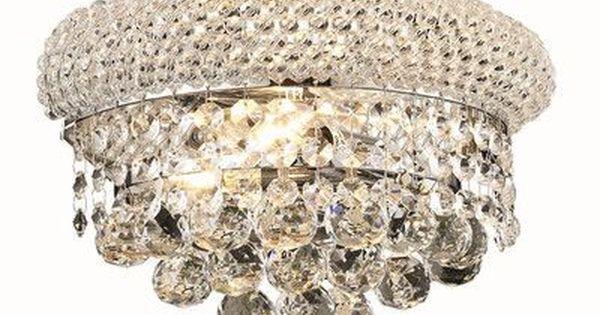 Elegant Lighting Primo 2 Light Wall Sconce Finish Elegant Lighting Crystal Wall Sconces Wall Sconces