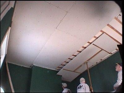 Pose Placo Plafond Refaire Un Plafond Avec Du Placoplatre Pose Placo Plafond Placo Plafond
