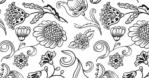 stress less coloring flower patterns 100 coloring