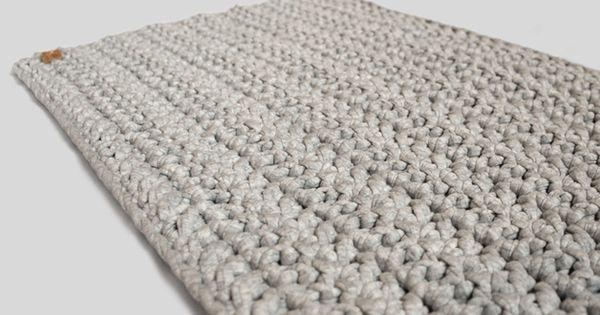 geh kelter l ufer badematte teppich grau stricken h keln co pinterest produkte. Black Bedroom Furniture Sets. Home Design Ideas