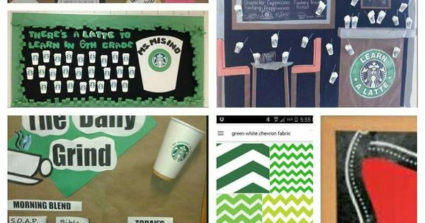 Creative Classroom Decoration Ideas ~ Starbucks bulletin board school stuff pinterest