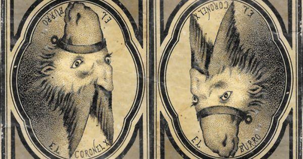 El Espejo Ludico Caras Dobles Del Siglo Xix Imagenes Ilusion Optica Psicologia De Las Formas Ilusiones