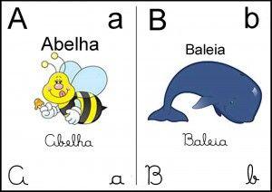 Alfabeto Ilustrado Corar Sala De Aula 1 Alfabeto Colorido
