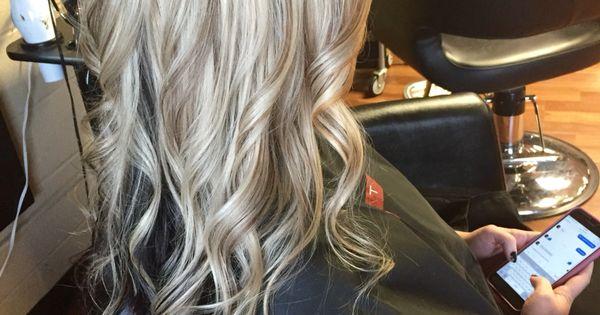 platinum blonde with lowlights and dark brown underneath