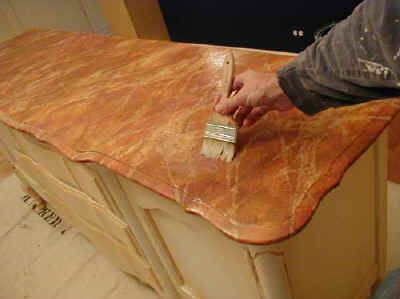 How To Paint Marble Faux Marble Painting Marbleizing