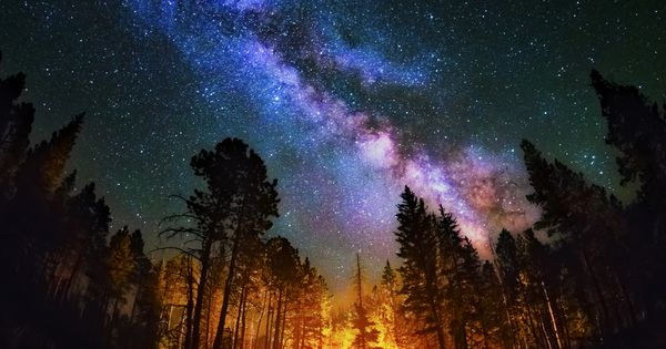 Absolutely spectacular image of the Milky Way. Taken in the Jemez Mountains,