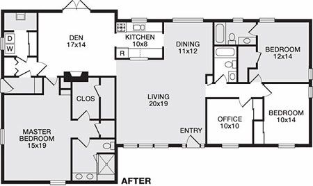 Remodeled Ranch House Plans