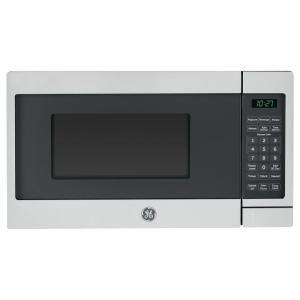 0 7 Cu Ft Small Countertop Microwave In Ge Model Jes1072shss