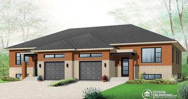Plan de maison multi logements w3059 house home for Plan maison duplex