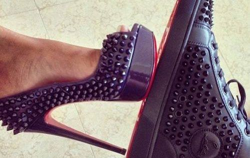 Christian Louboutin matching pair, his and hers! This would be an adorable