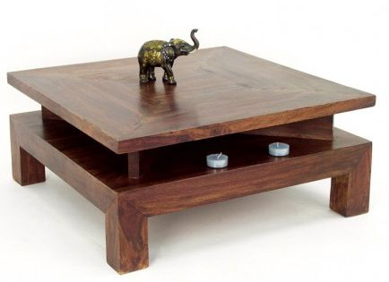 Table Basse Carree En Palissandre Zen Mobilier Ethnique Table Basse Meuble Table Basse Table De Salon