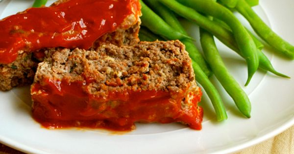 Meatloaf with Sweet Ketchup Glaze by asweetpeachef: Hearty, uncomplicated and comforting- with